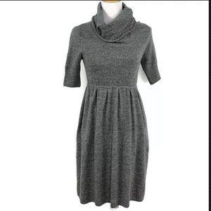 BCBGMAXAZRIA Gray Cashmere Funnel Neck Dress